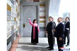Mongolian Delegation Visits Tower of Juche Idea